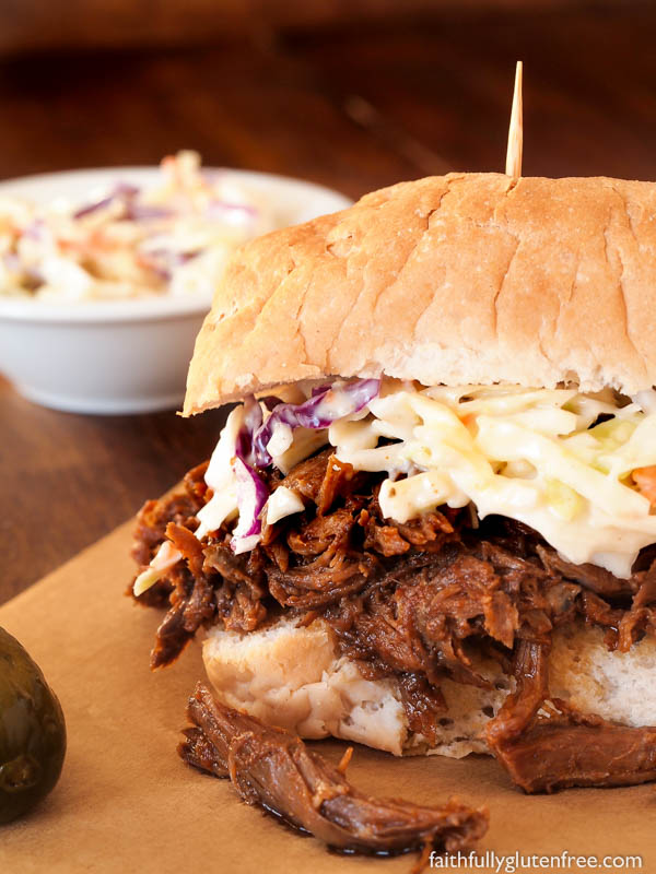 Throw a few ingredients into your slow cooker in the morning, and by dinner you're going to be greeted by the amazing aroma of these Slow Cooker BBQ Beef Sandwiches. This saucy, seasoned shredded beef is great on a bun with a vinegary coleslaw or Swiss cheese.