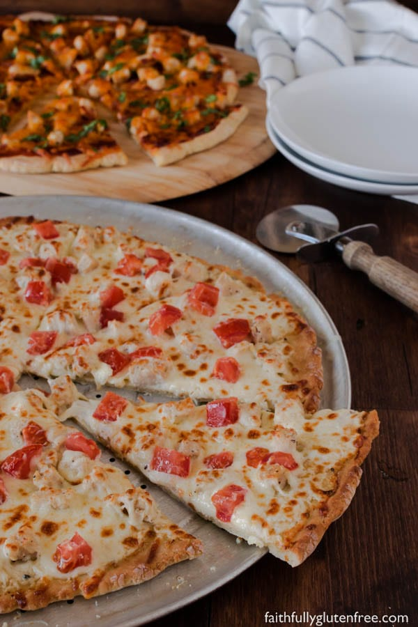Improve your pizza night by adding this Gourmet Chicken Pizza to the rotation. It uses prepared salad dressing for the sauce, so it's perfect for those that don't like the standard tomato pizza sauce.