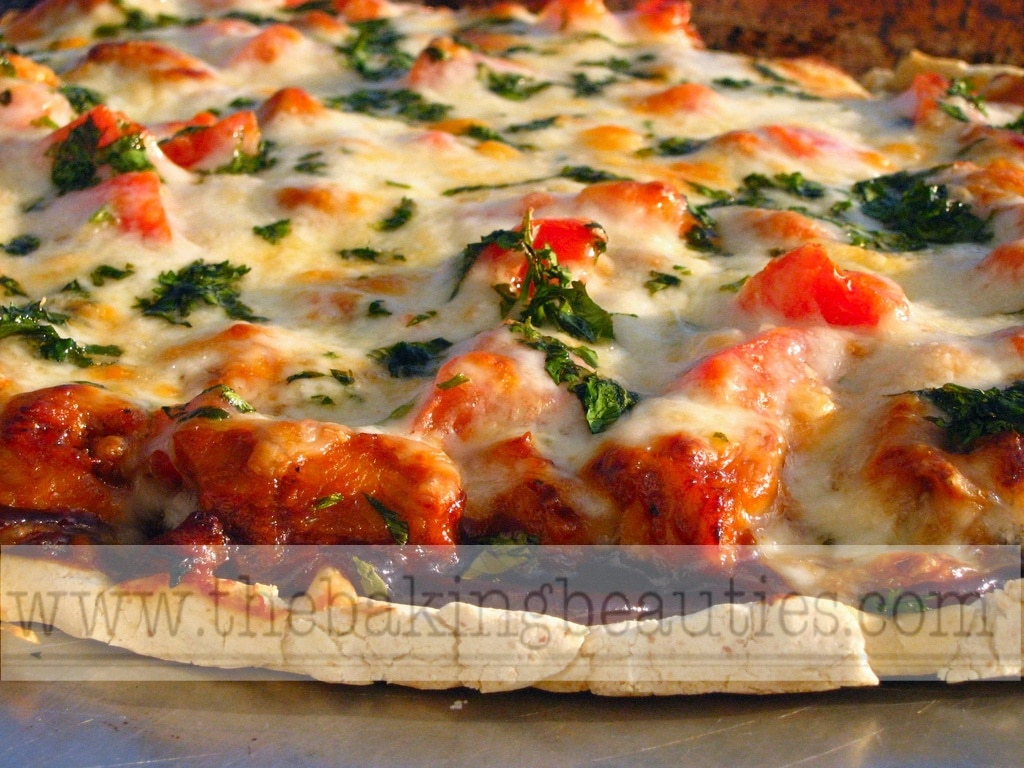 Barbecue Chicken Pizza - The Baking Beauties