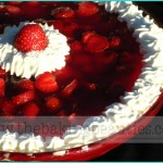 Fresh Crustless Strawberry Pie
