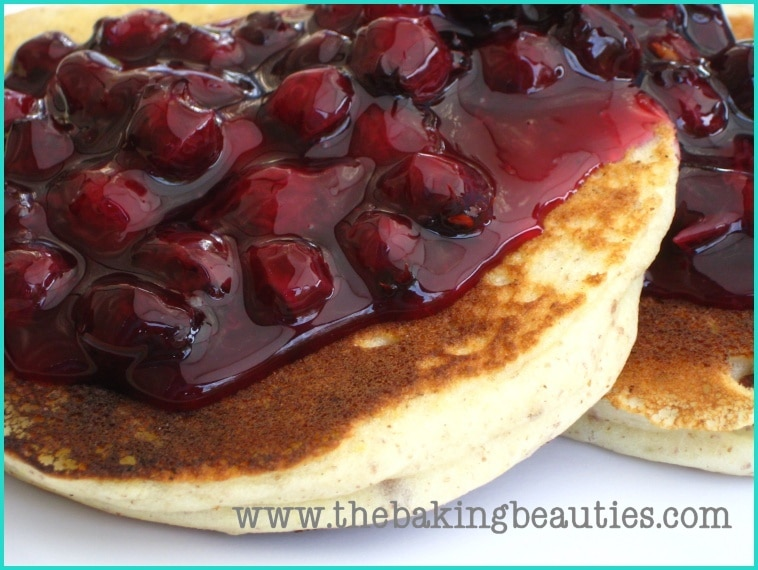 Delicious Gluten-Free Pancakes with Blueberry Sauce