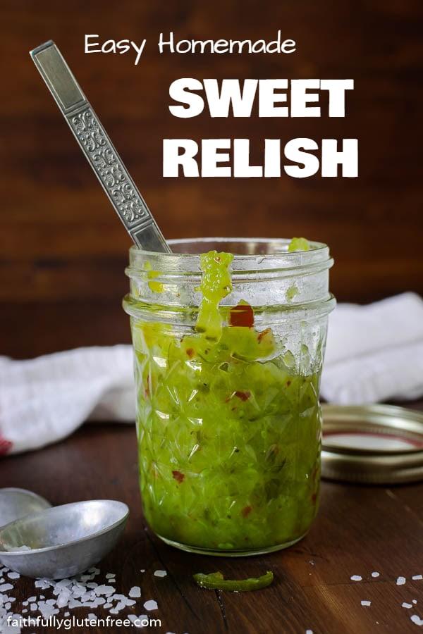 Jar full of sweet relish