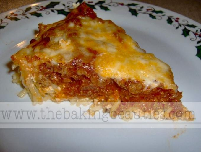 Beef Spaghetti Pie | The Baking Beauties