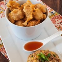 Gluten Free Chinese Chicken Balls with Sweet and Sour Sauce