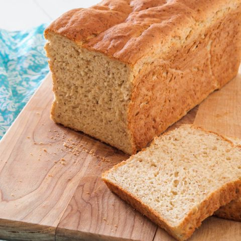 This Wonderful Gluten Free Sandwich Bread really does earn it's name. The bread is really simple to make, has a wonderful texture, and will get you eating sandwiches again in no time.