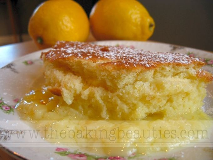 Gluten-free Lemon Custard Pudding Cake | The Baking Beauties