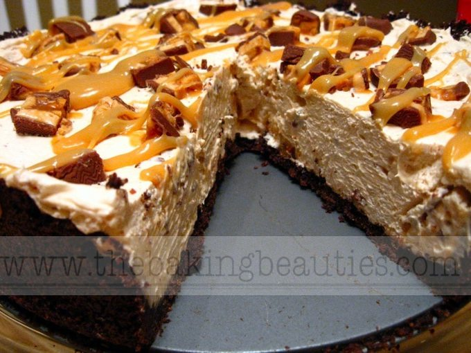 Gluten-free Snickers Pie (really a cheesecake) | The Baking Beauties