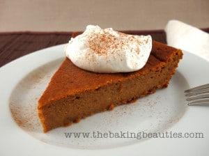 Crustless Pumpkin Pie (gluten-free) | The Baking Beauties