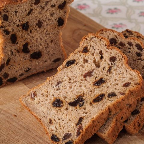 Gluten Free Oatmeal Cinnamon Raisin Bread