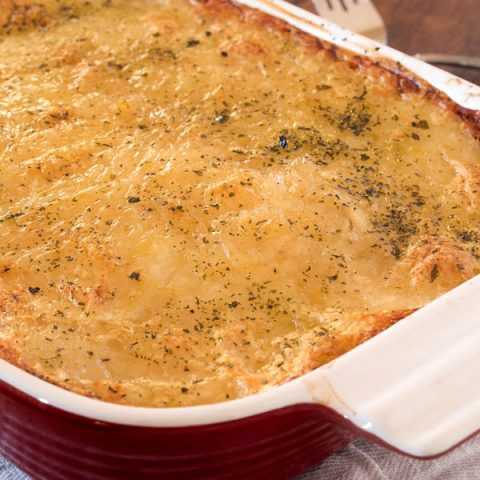 Gluten free, Dairy free Scalloped Potatoes