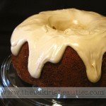 Gluten Free Spice Cake with Maple Cream Cheese Glaze