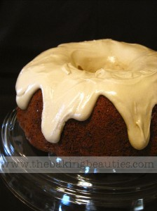 Gluten-free Spice Cake with Maple Cream Cheese Glaze