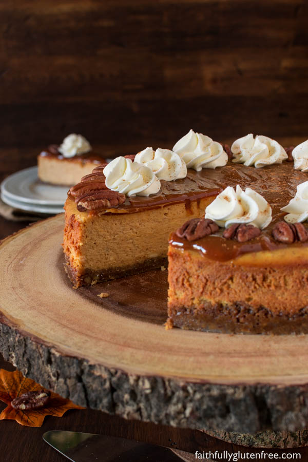Award Winning Gluten Free Pumpkin Cheesecake