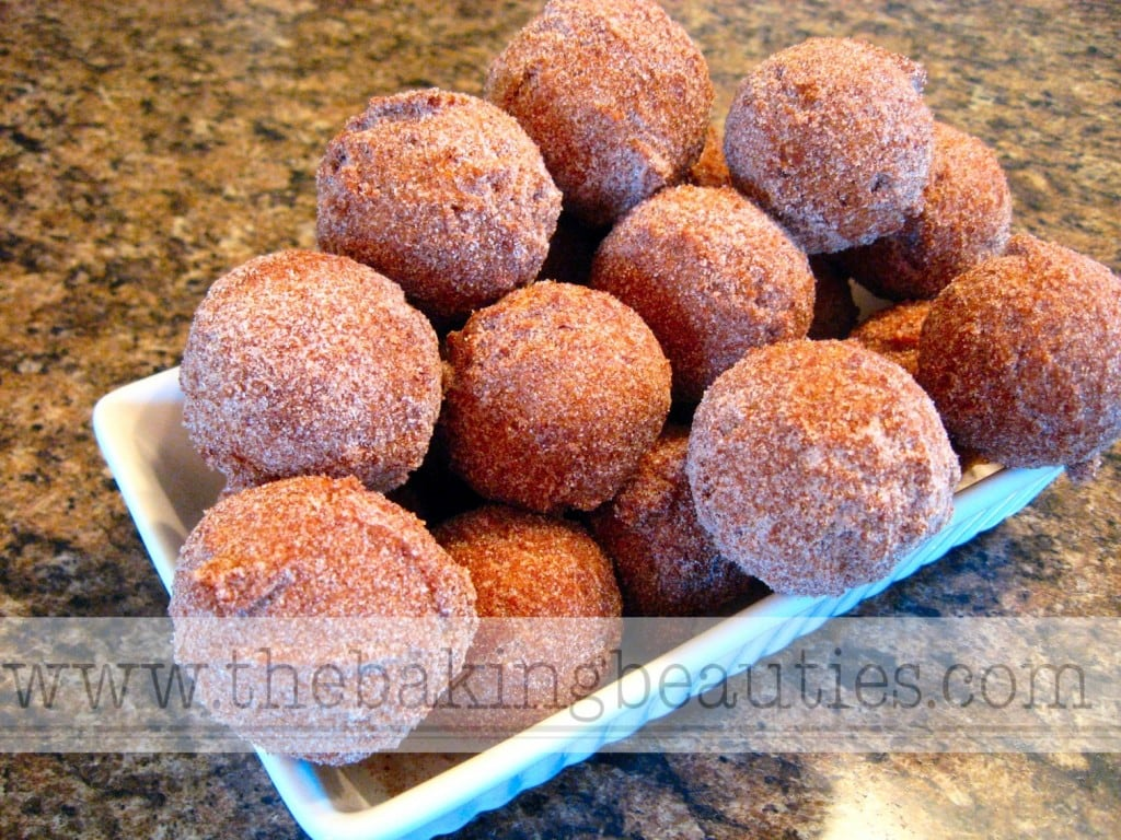 Gluten-free Pumpkin Spice Doughnut Holes | The Baking Beauties
