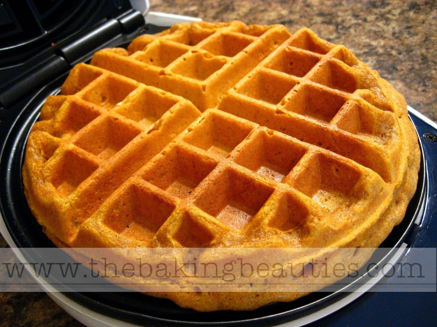 The Ultimate Gluten Free Pumpkin Waffles - The Baking Beauties
