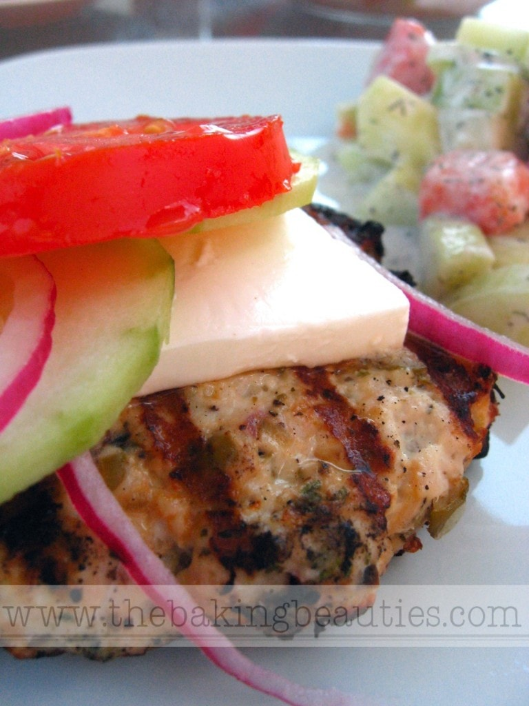 Greek-style Turkey Burgers (gluten-free) | The Baking Beauties