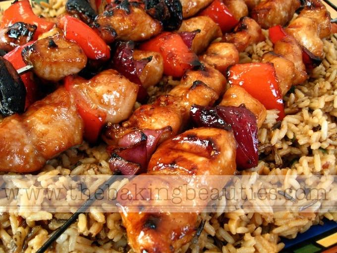 Yummy Honey Chicken Kabobs - The Baking Beauties