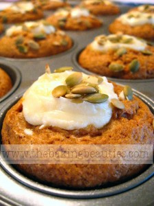 Gluten-free Pumpkin Cheesecake Muffins