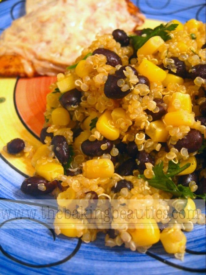 Quinoa and Black Bean Salad | The Baking Beauties