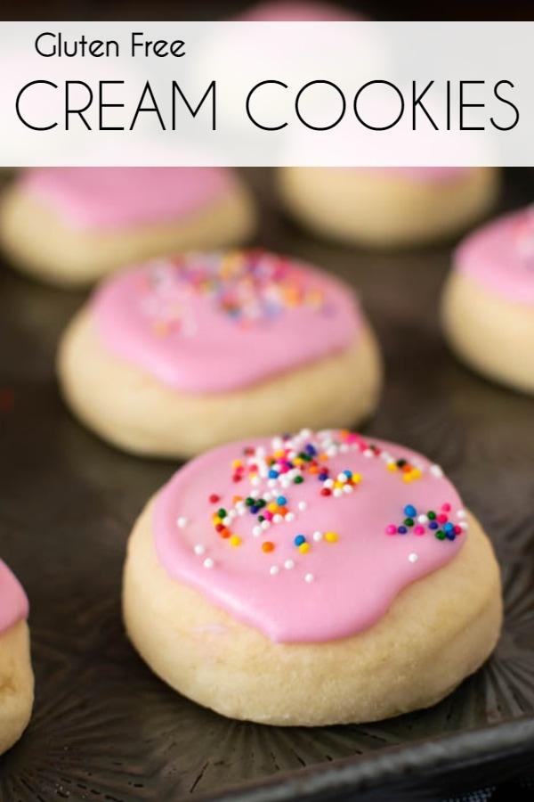 Soft Gluten Free Cream Cookies recipe