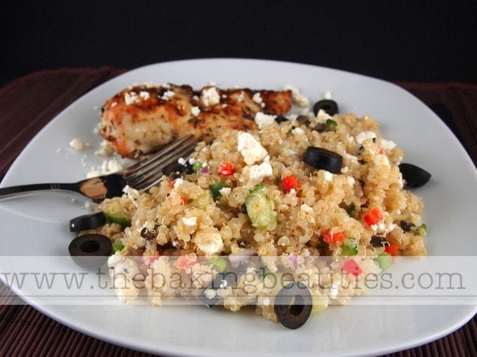 Greek Quinoa Salad (gluten-free) | The Baking Beauties