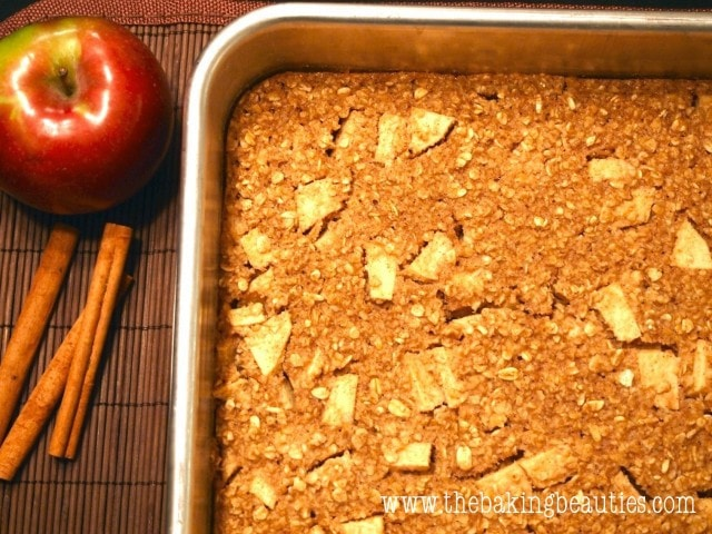 Gluten-free Baked Apple Oatmeal | The Baking Beauties