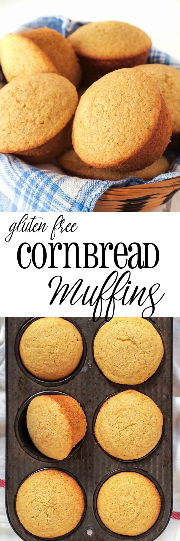 These gluten free Buttermilk Cornbread Muffins were not only the best gluten free ones I've ever had, but they beat anything that I made before going gluten free as well!