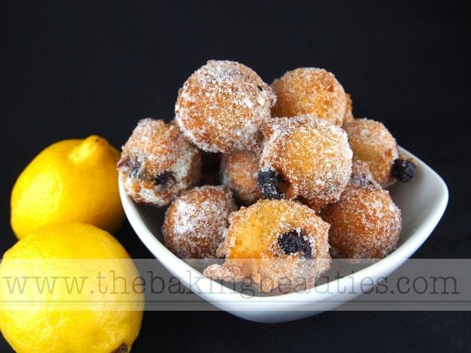Gluten-free Lemon Blueberry Doughnut Holes | The Baking Beauties