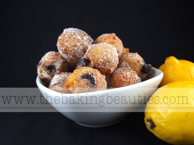 Gluten-free Lemon Blueberry Doughnut Holes | The Baking Beauties