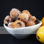 Gluten Free Lemon Blueberry Doughnut Holes