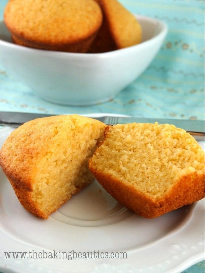 Light Gluten-free Buttermilk Cornbread Muffins | The Baking Beauties