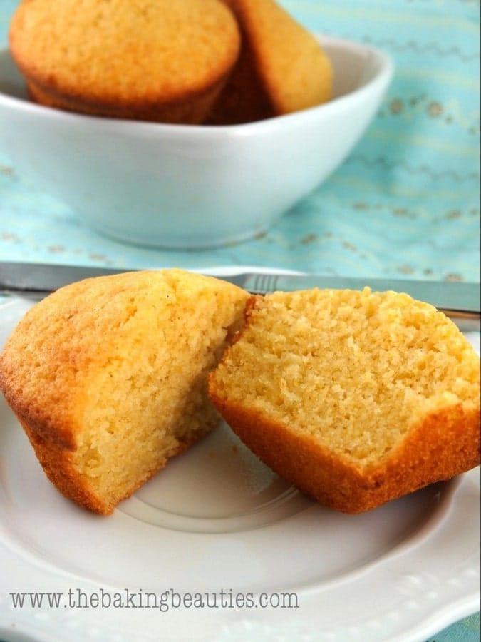 Light Gluten-free Buttermilk Cornbread Muffins   The Baking Beauties