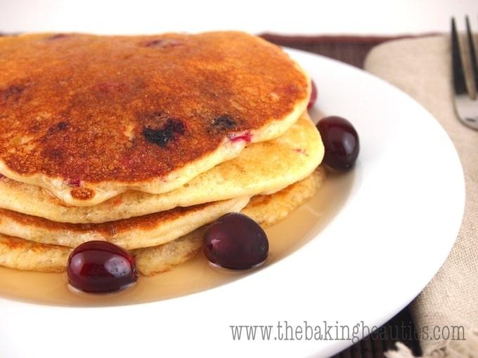 Gluten Free Cornmeal Cranberry Pancakes