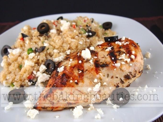Grilled Greek Chicken - The Baking Beauties