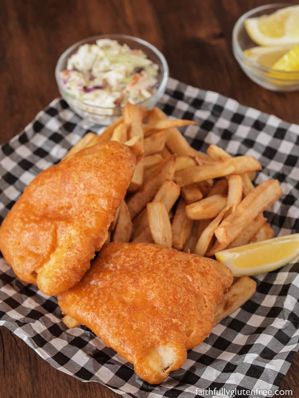 Gluten free beer battered fish faithfully gluten free for How do you make batter for fish