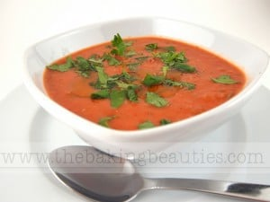 Creamy Gazpacho with cream cheese