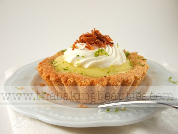 Gluten-free Creamy Lime and Coconut Tart | The Baking Beauties