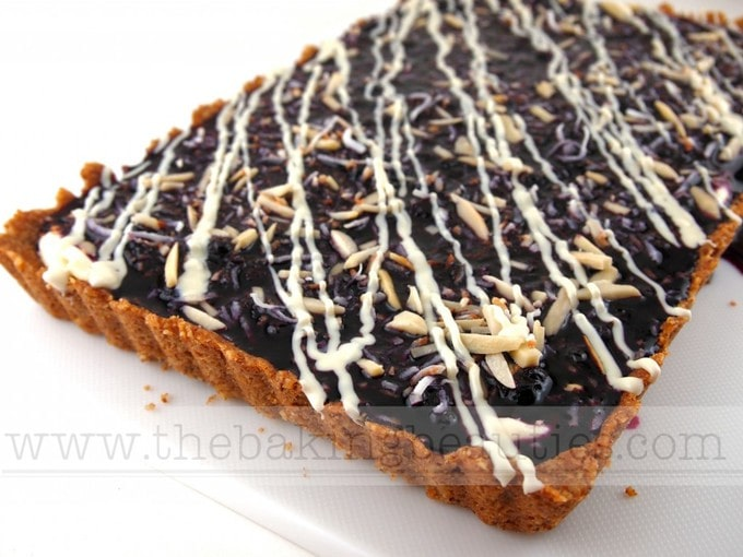 Gluten-free Blueberry Cream Cheese Tart with a naturally gluten-free Nut Crust   The Baking Beauties