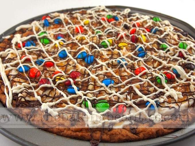Gluten Free Creamy Cookie Pizza