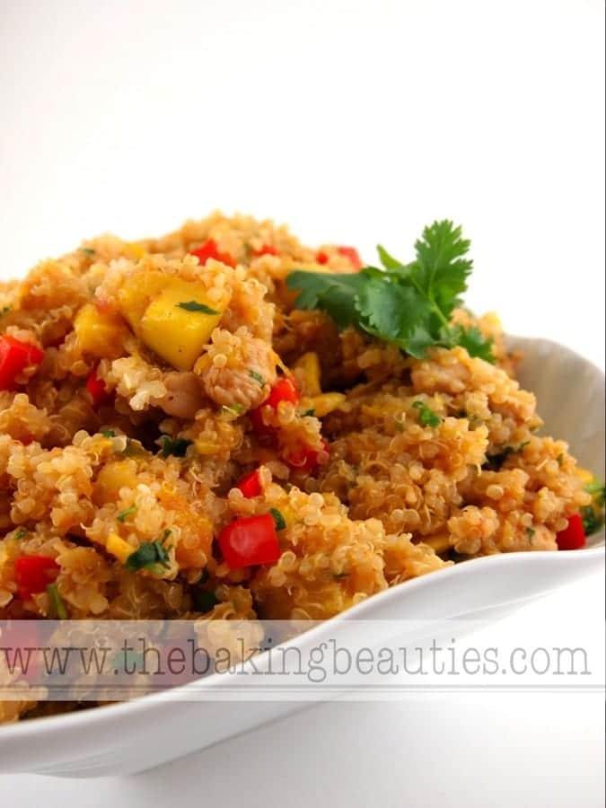 Southwest Chicken Mango Quinoa Salad (gluten-free) > The Baking Beauties
