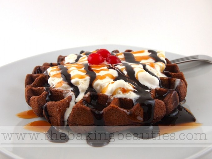 Gluten-free Mocha Waffles | The Baking Beauties