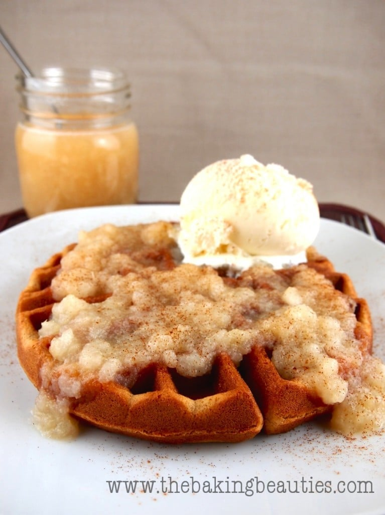 Gluten-free Gingerbread Waffles with Pear Sauce - Faithfully Gluten ...