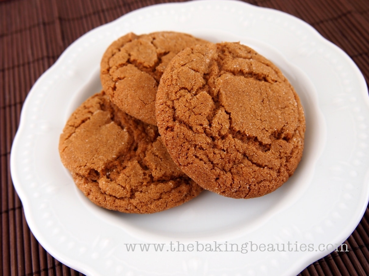Soft Gluten-Free Ginger Cookies - The Baking Beauties