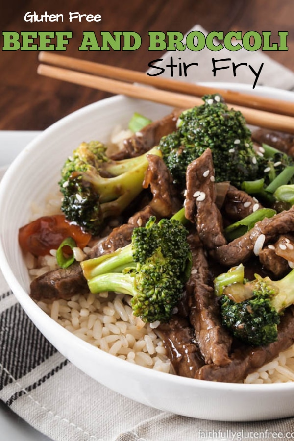 Plate of Beef and Broccoli Stir Fry over rice