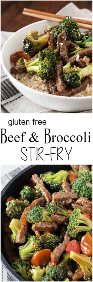 Loaded with perfectly seasoned beef and broccoli, this quick and easy gluten free Beef and Broccoli Stir Fry is sure to satisfy your craving for take-out.
