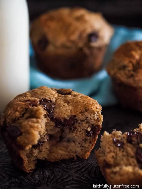 These gluten free Banana Chocolate Chip Muffins are perfect for the lunch kit, or an afternoon pick me up.
