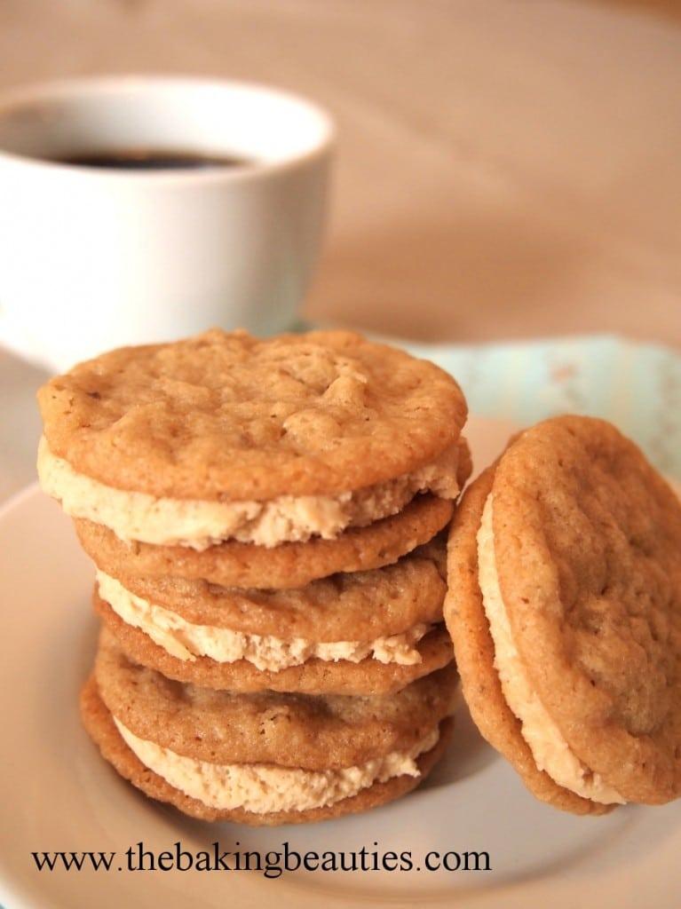 Gluten-free Oatmeal Peanut Butter Sandwich Cookies from The Baking Beauties