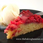 Gluten-free Strawberry Rhubarb Upside Down Cake