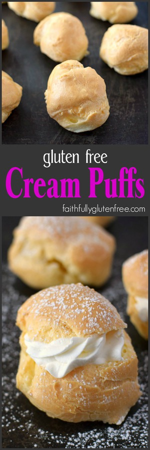 These gluten free Cream Puffs have a crisp outer shell, with a nice large hollow in the middle - perfect for your favorite filling.