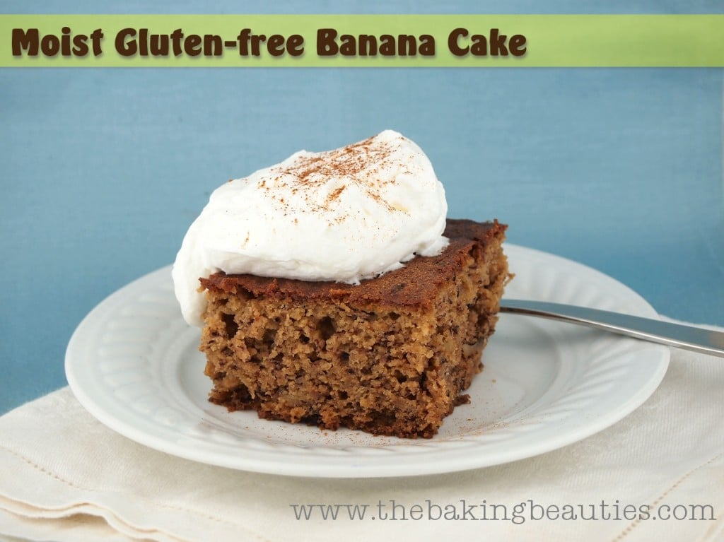Moist Gluten Free Banana Cake from The Baking Beauties